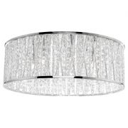 Lefes 7 Light Flush Fitting in Polished Chrome with Crystal Beads - PAUL NEUHAUS 6102-17